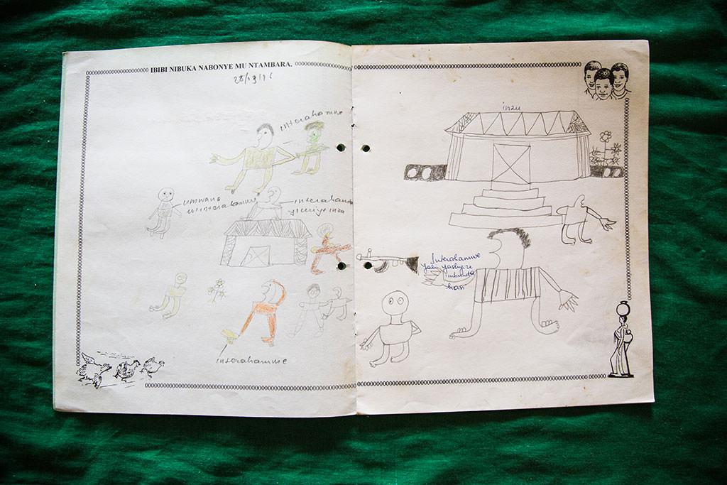 Genocide survivor drawing