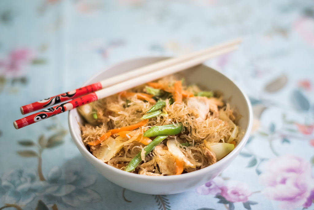 Pancit Bihon noodles