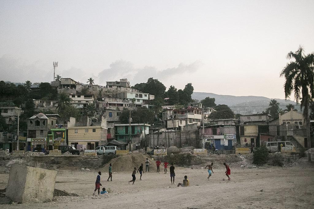 Football on the streets of Haiti