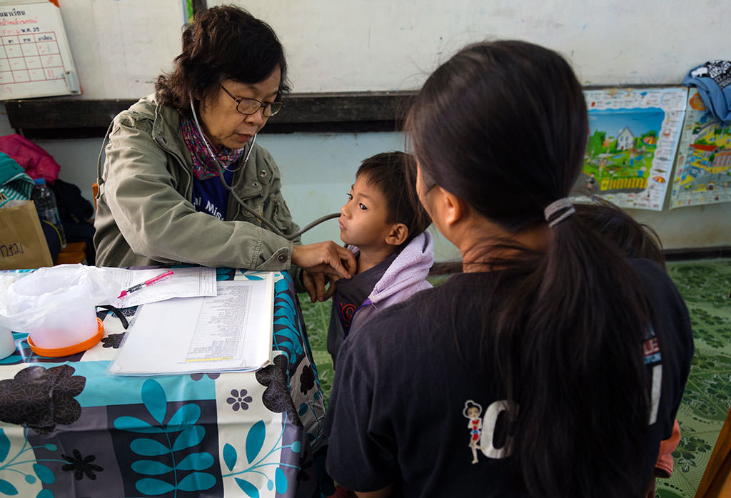 Doctor check at Compassion project