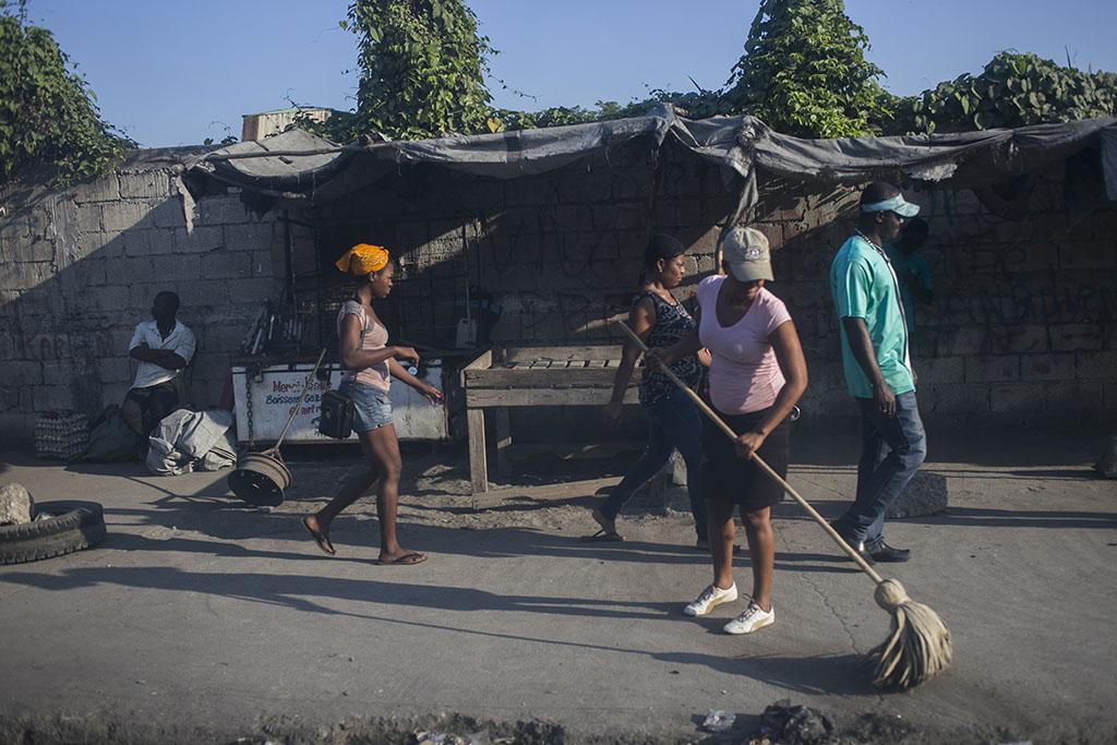 Sweeping in Haiti
