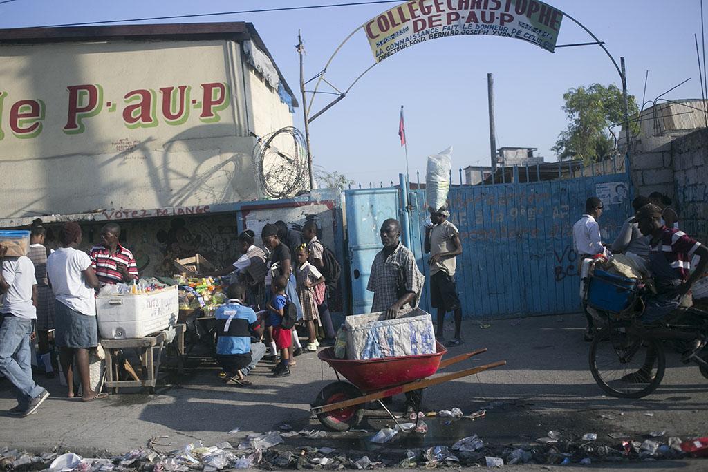 Wheelbarrow in Haiti
