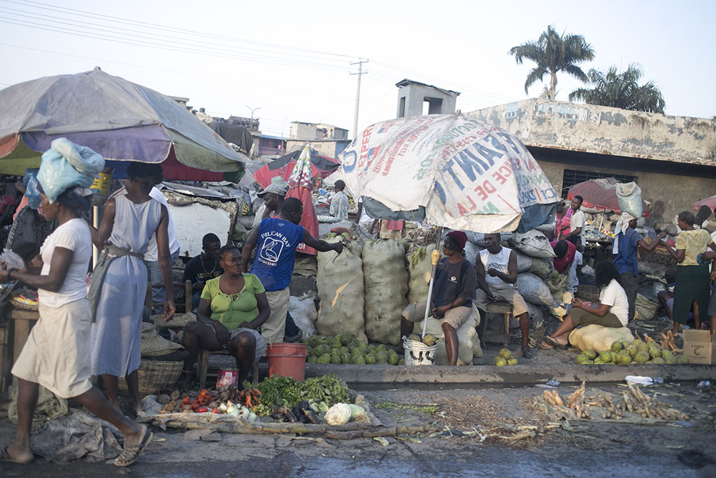 Woman selling at Haitian market