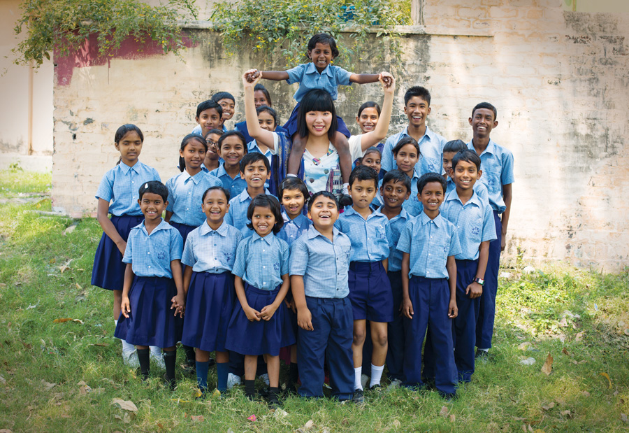 Dami Im visits a Compassion project