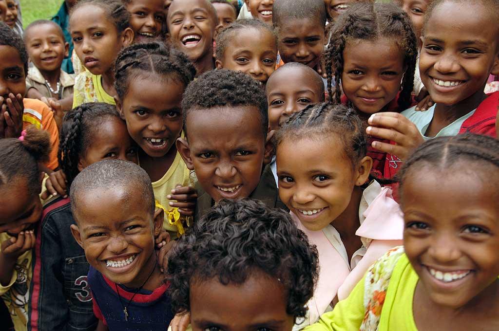 Smiling Ethiopian children
