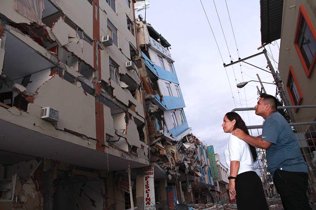 Home destroyed by Ecuador earthquake