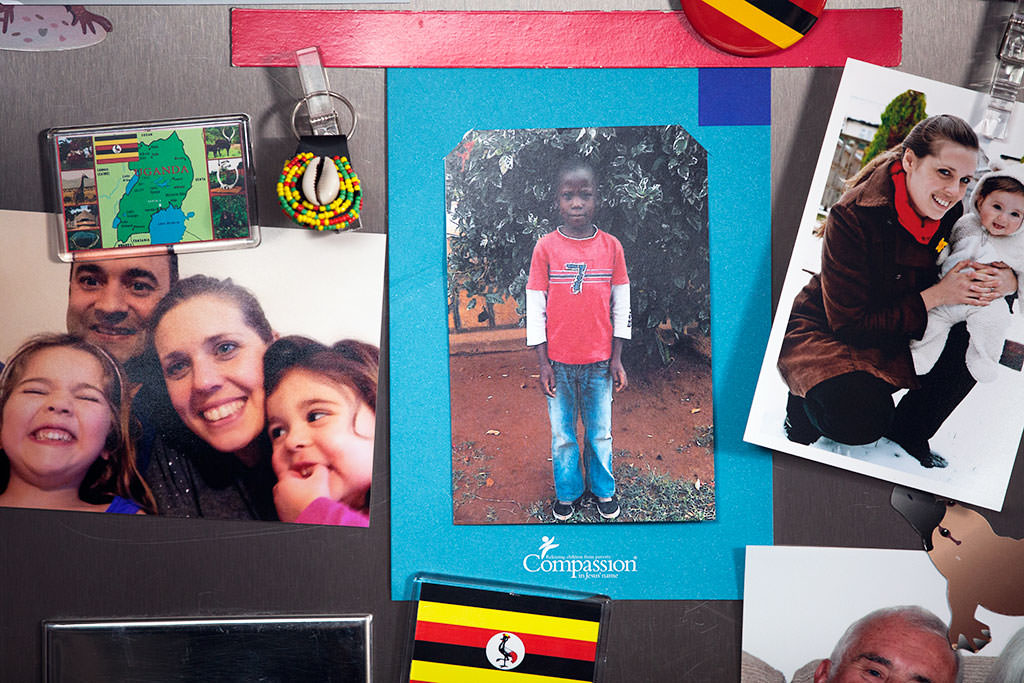 Sponsored child on fridge
