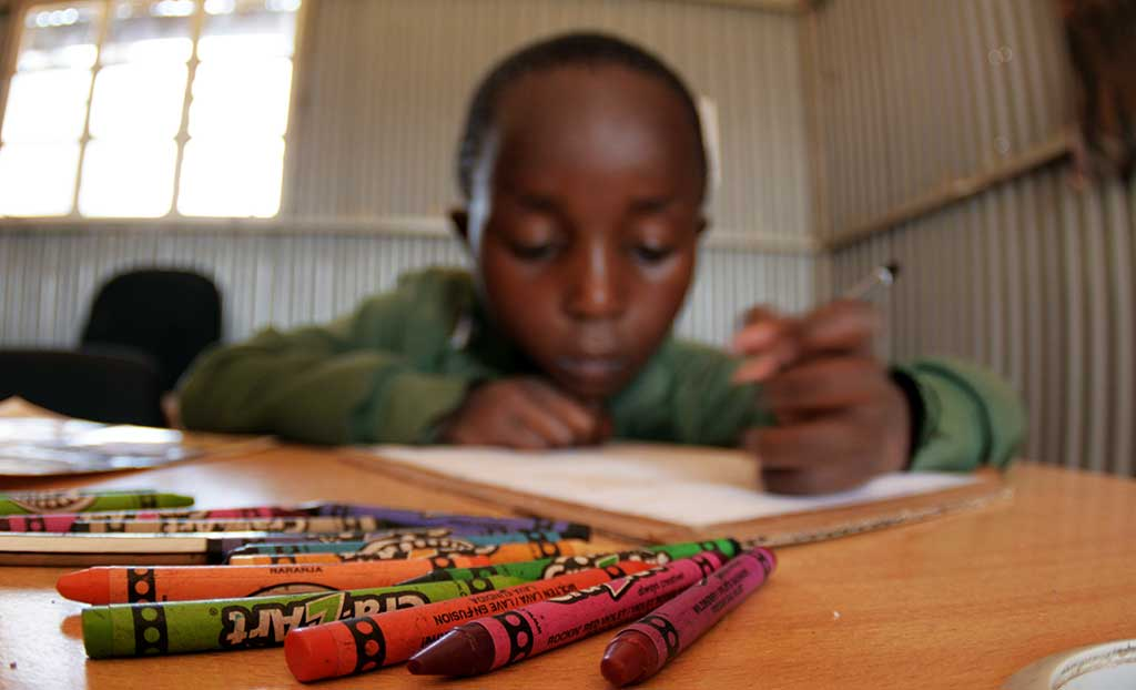 Sponsored child Luis colouring