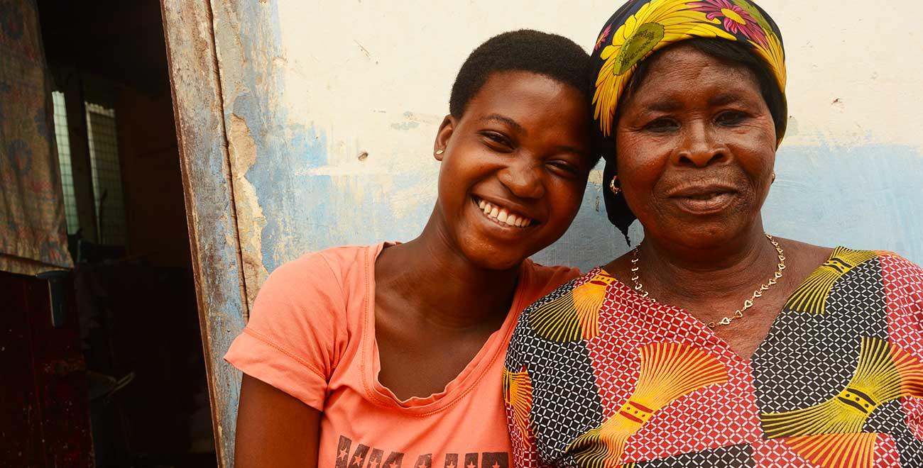 Sponsored child Rosemary and her mum