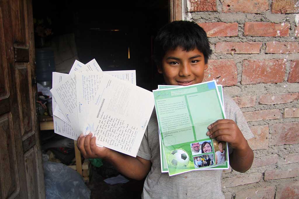Vladmir holding sponsor letters