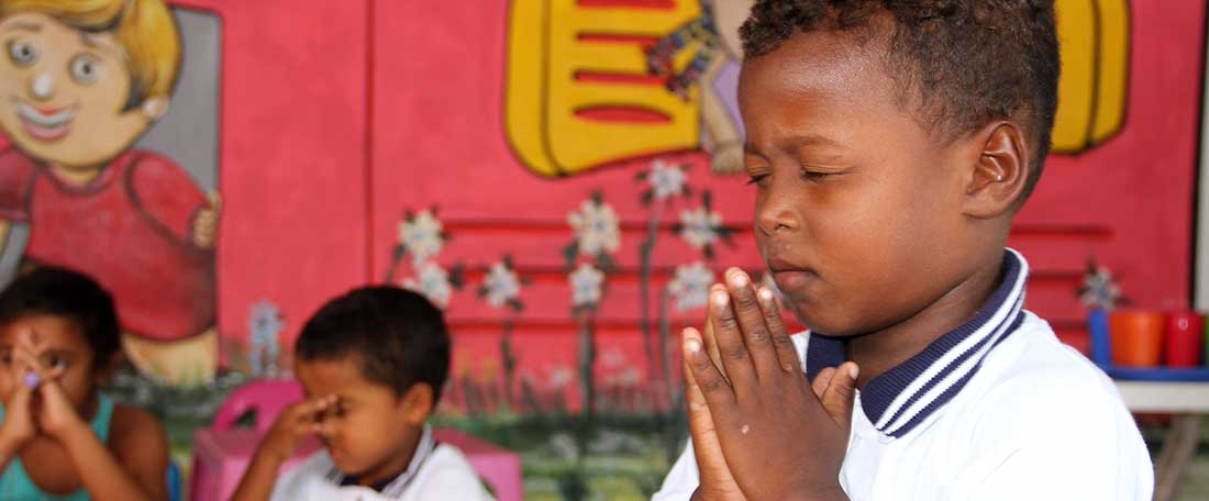 Praying in Colombia
