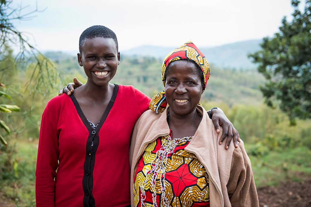 Mother and daughter in Rwanda