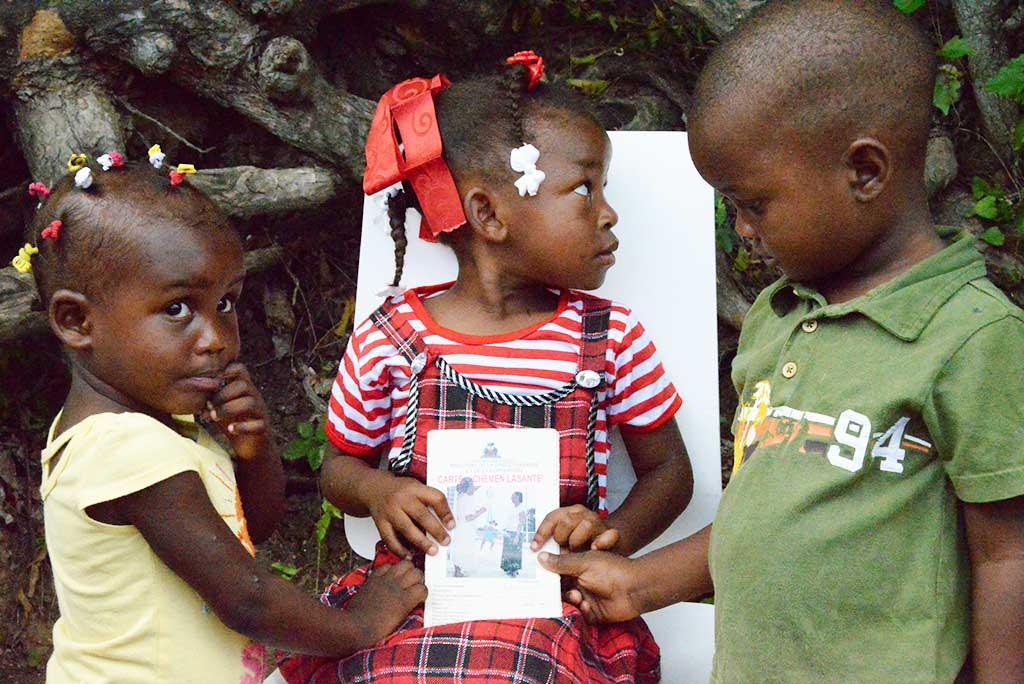 Vaccination cards in Haiti