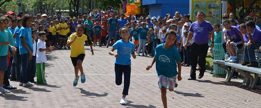 Children running in Nicaragua