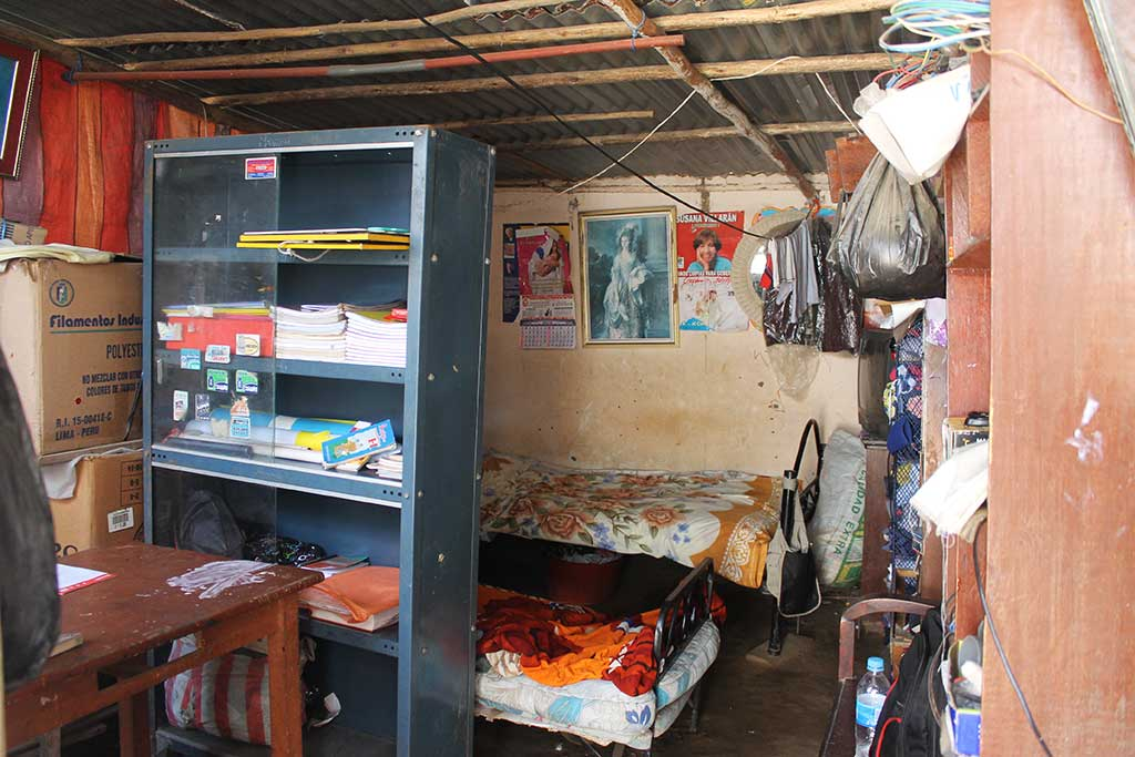Inside house in Peru