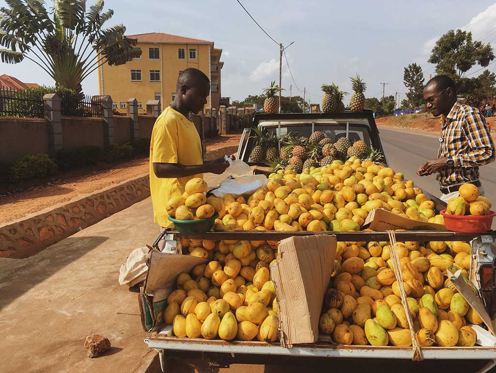 Lemon cart in Uganda