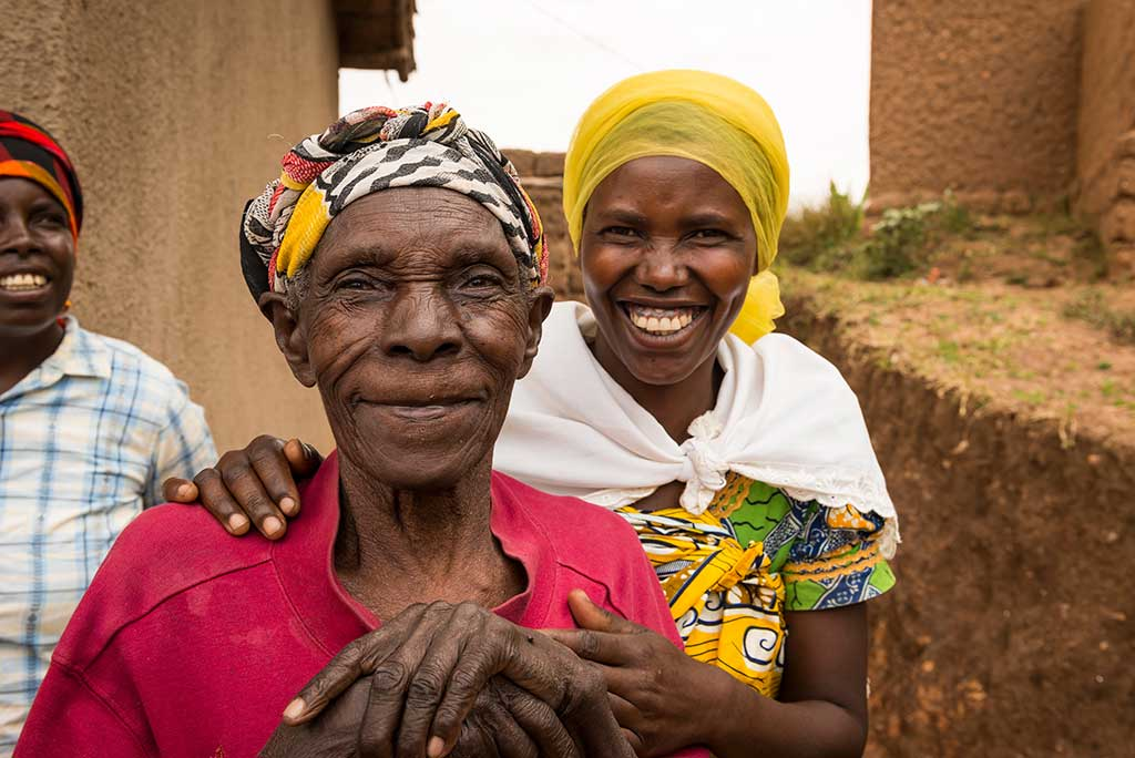 Smiling ladies in Rwanda