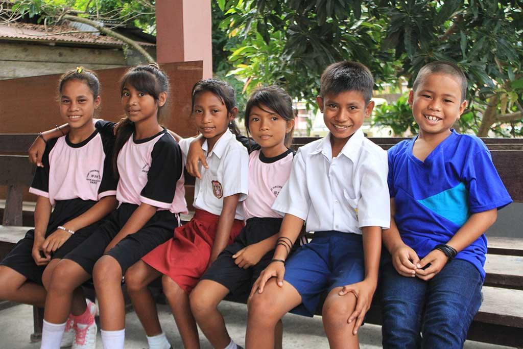 Sponsored children in Indonesia