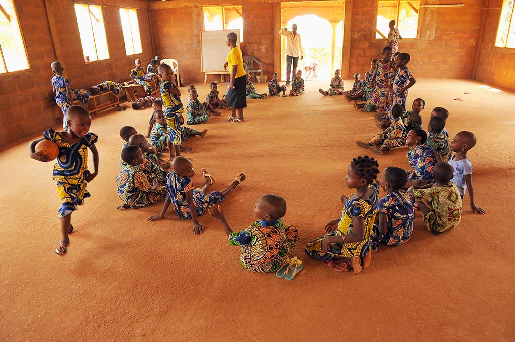 Playing duck duck goose in Togo