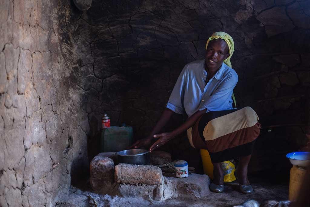 Cooking in Kenya