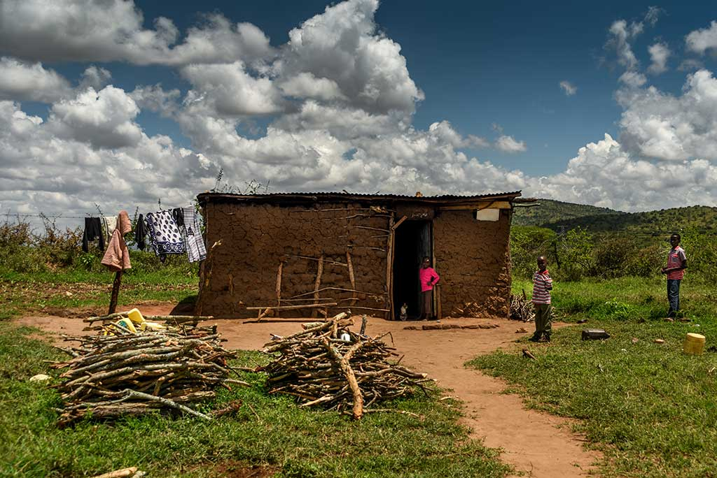 Mud house in Kenya