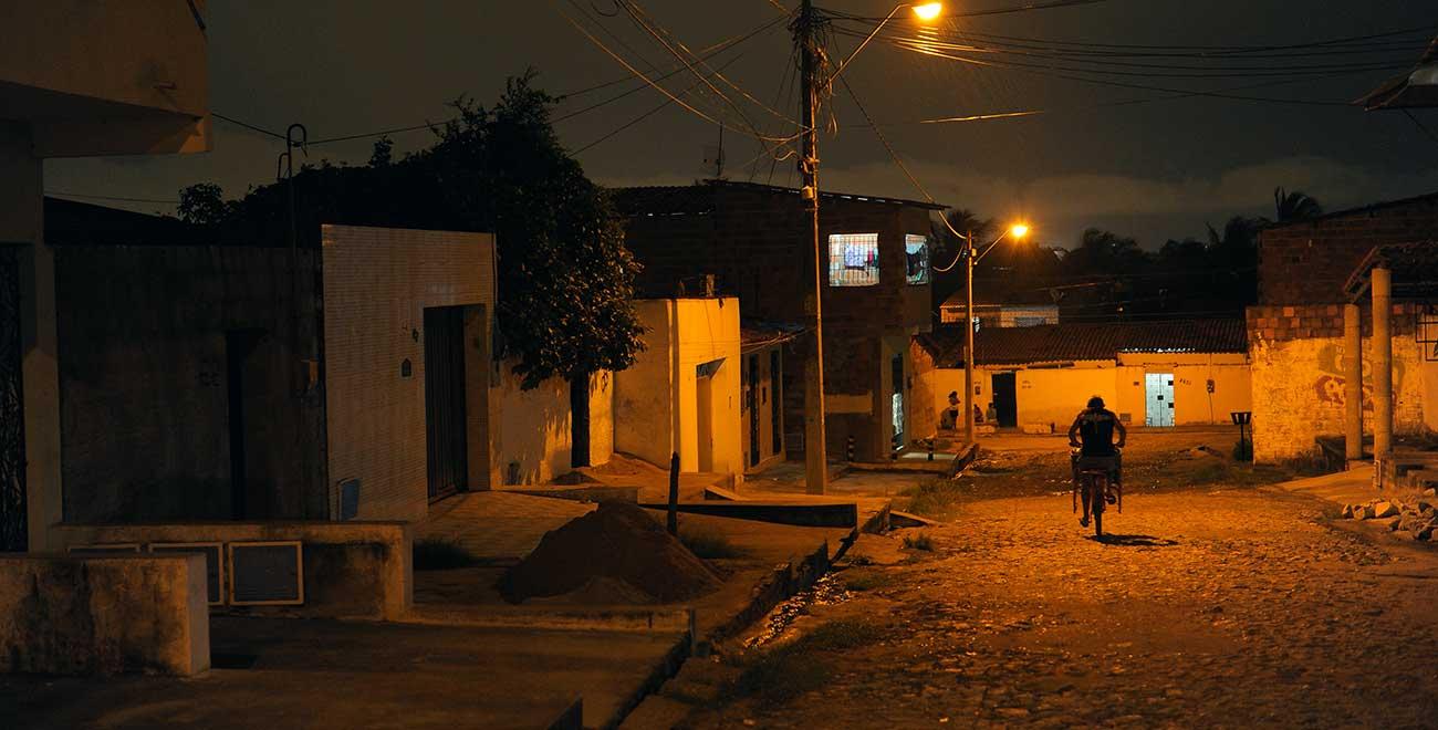 Night scene in Latin America