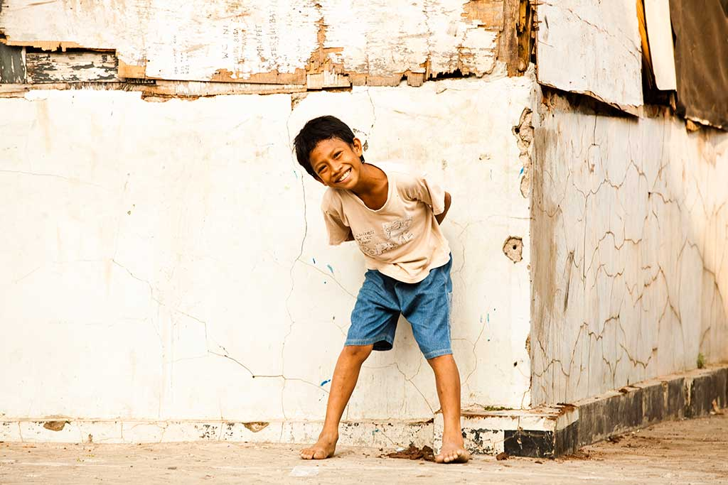 Smiling boy in Indonesia