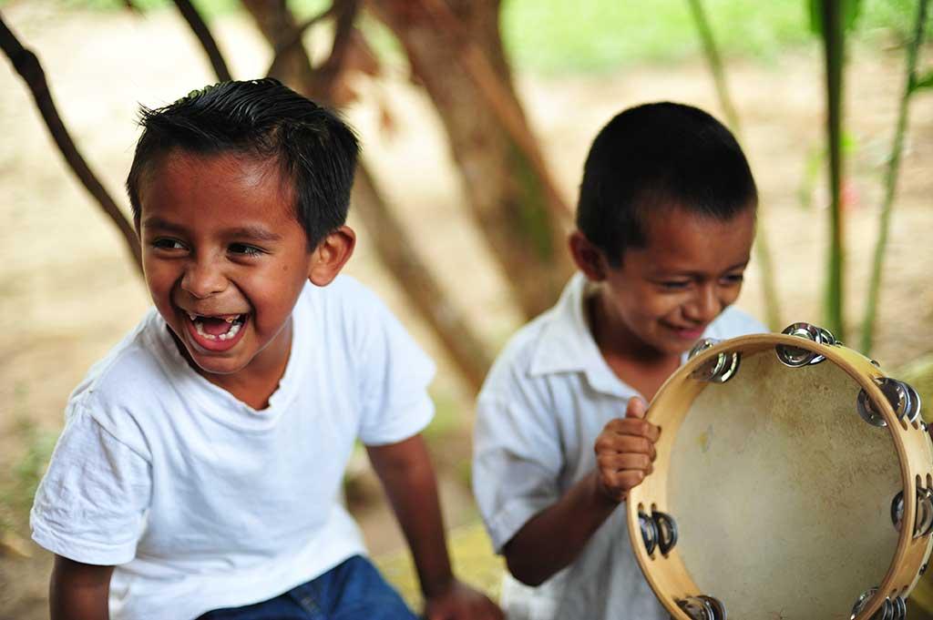 Tambourine playing in Guatemala