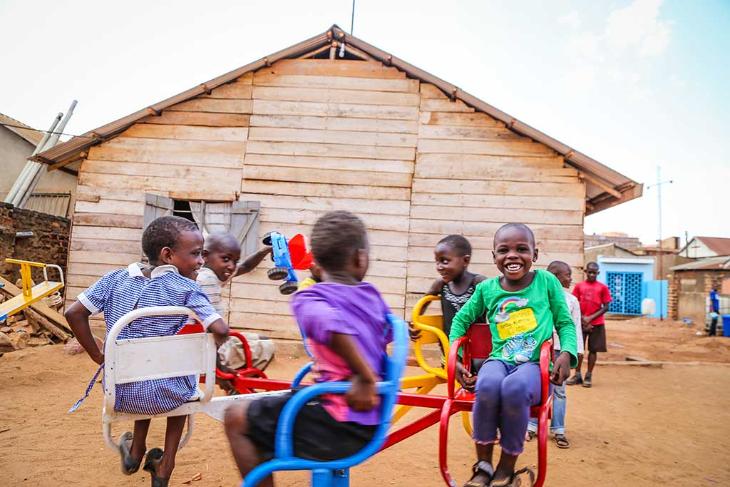 Ugandan children in playground