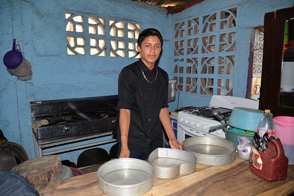 Walberto in his kitchen