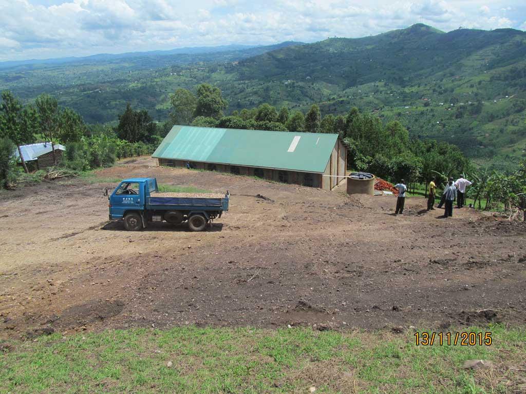 Classroom building in Uganda