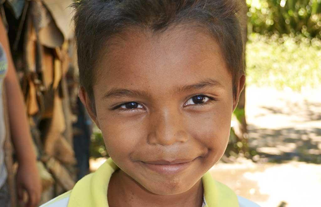 Nicaraguan boy smiling
