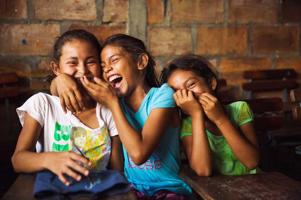 Girls laughing in Nicaragua