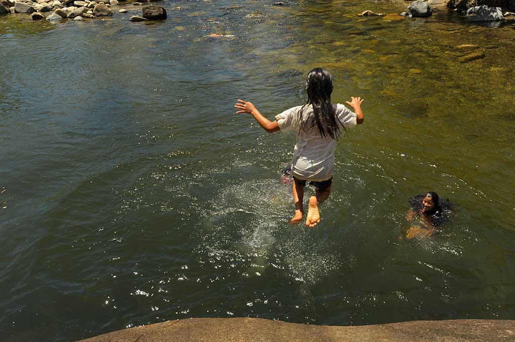 Swimming in Ecuador