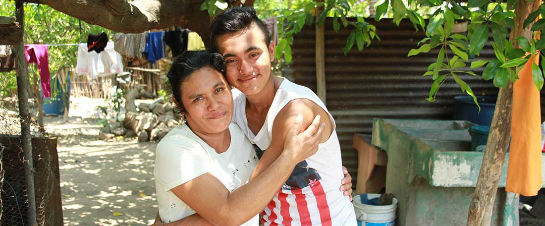 Mother and son in Guatemala