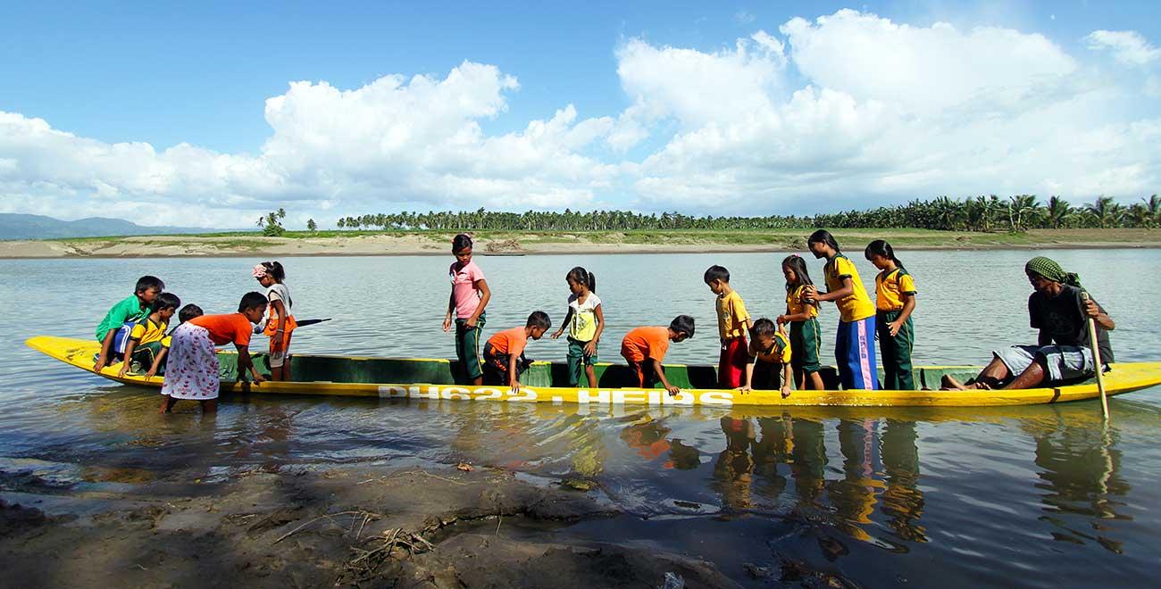 Canoeing to school