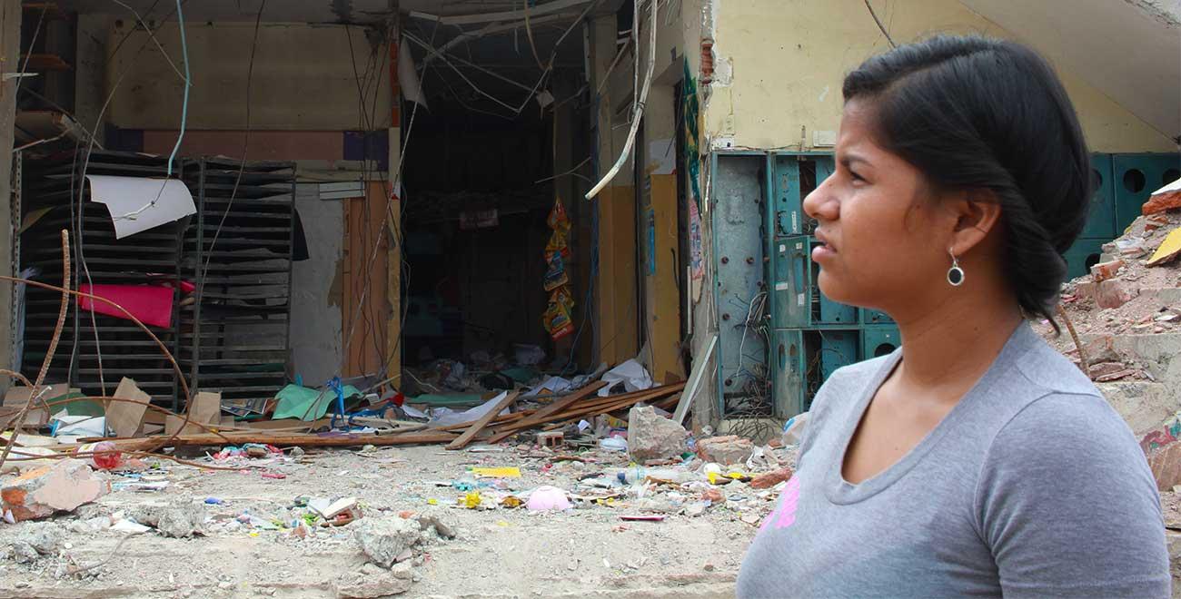 Ecuador earthquake survivor