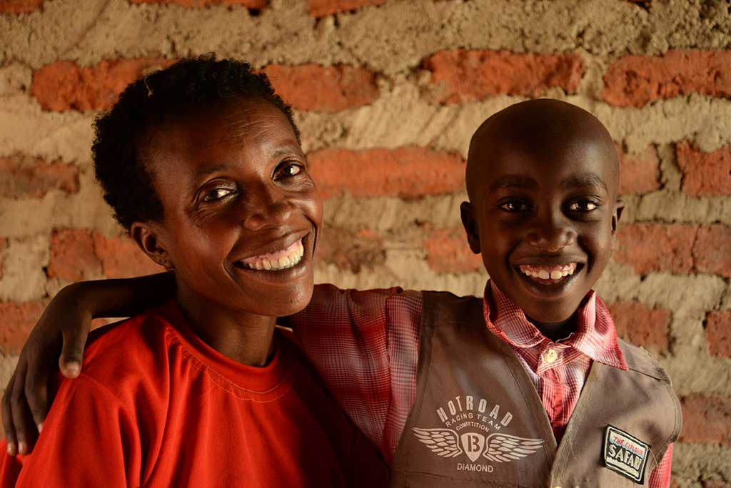 Mother and son in Uganda