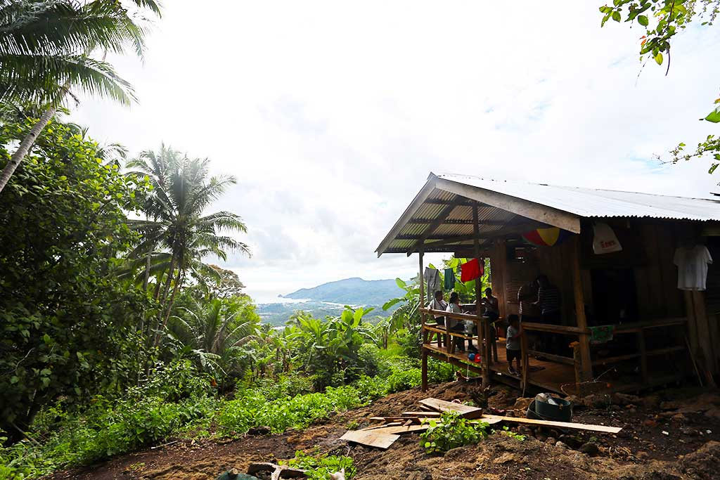Mountain hut in Philippines