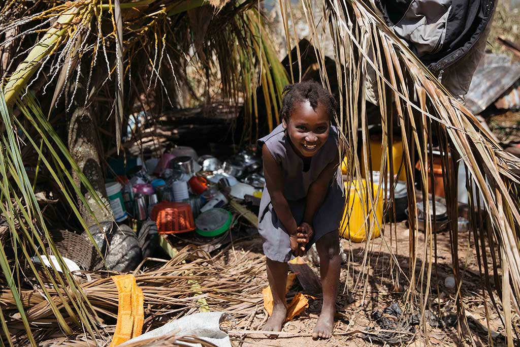 Young girl who survived Hurricane Matthew