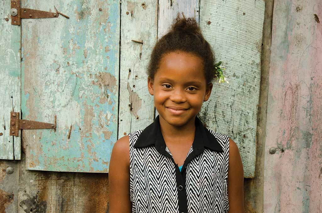 Young girl from Dominican Republic