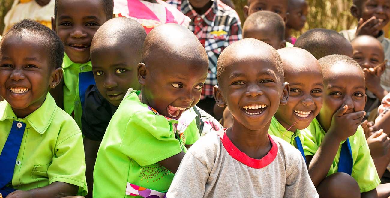 Smiling children in Rwanda