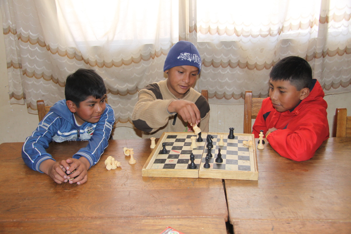 Playing chess in Bolivia