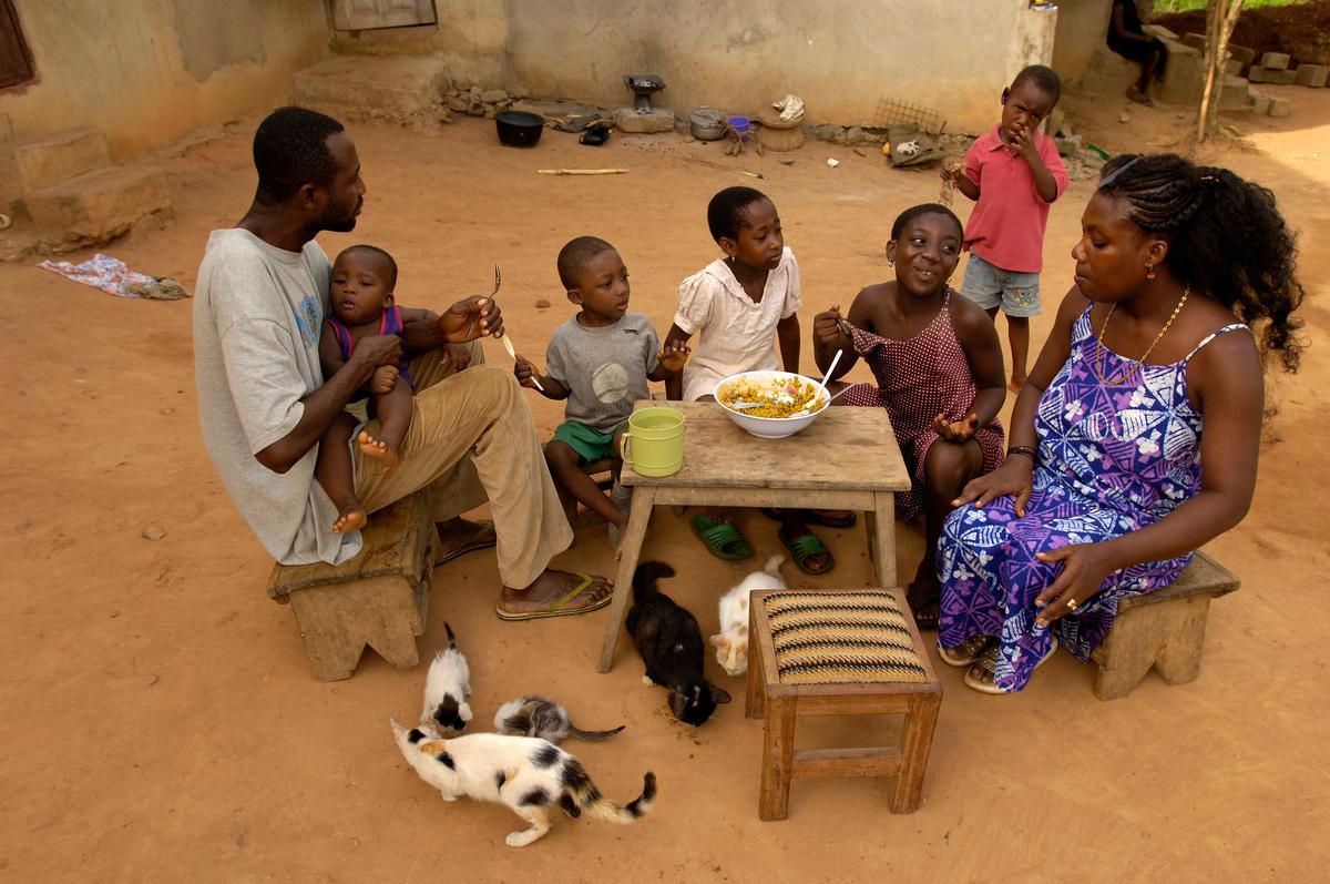 Family in Ghana