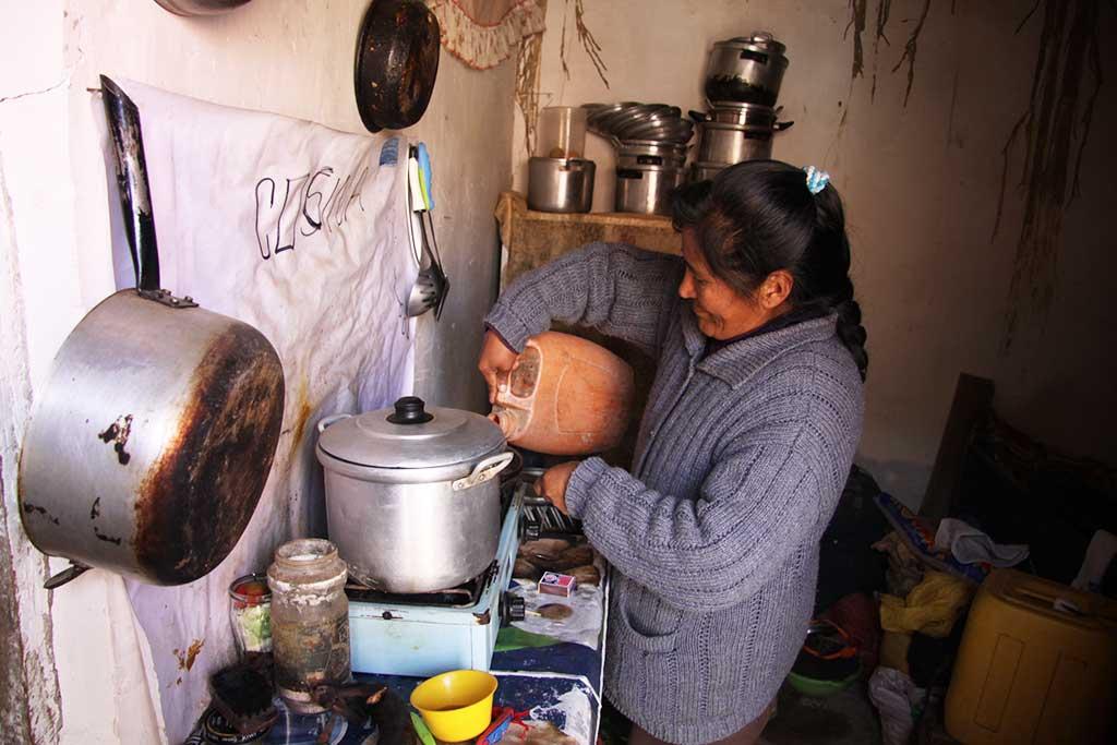 Bolivian kitchen