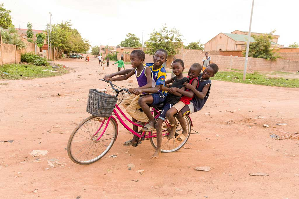 Boys on a bicycle