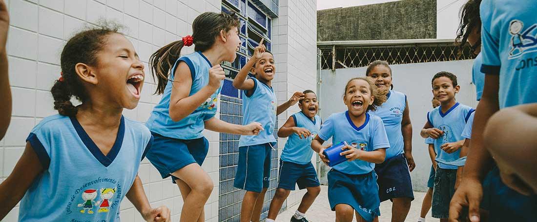 Smiling children in Brazil