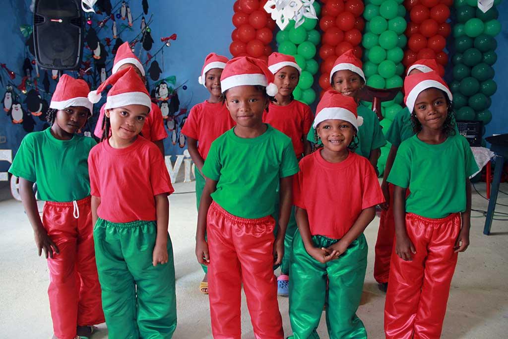 Singing Christmas songs