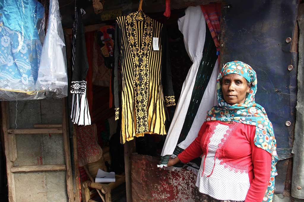 Clothes shop in Ethiopia