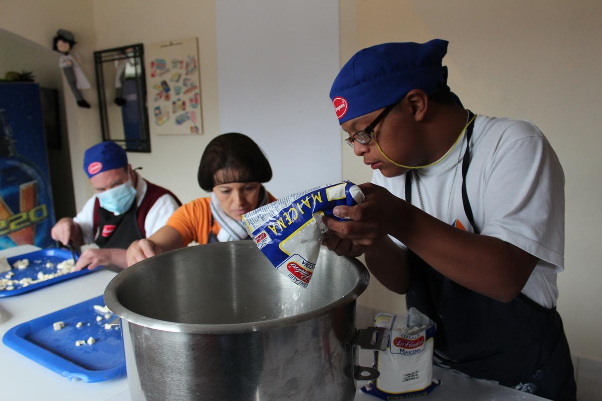 Baking in Ecuador